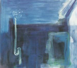 'Blauw bad', 1996, olie op doek, 82 X 90 cm