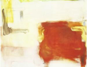 'Tafel en bed' 1996, olie op doek