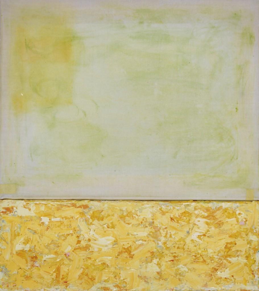 'paas-bos' olieverf/transparant doek 13 x 45 / 35 x 45 cm 1997