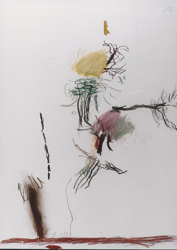 'Herenweg - Voert' pastel 1.00 x 70 cm 1990