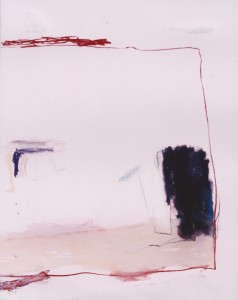 'Innenraum', pastel op papier, 1.00 X 1.35 cm