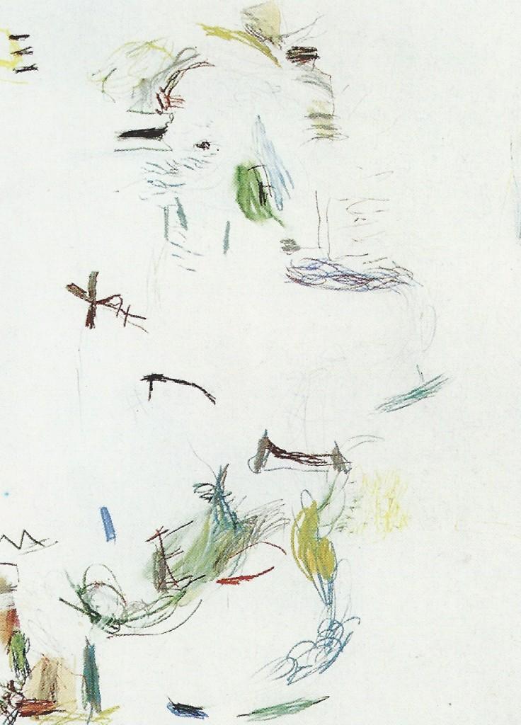 'Driehuizen' pastel 1.00 x 70 cm 1990