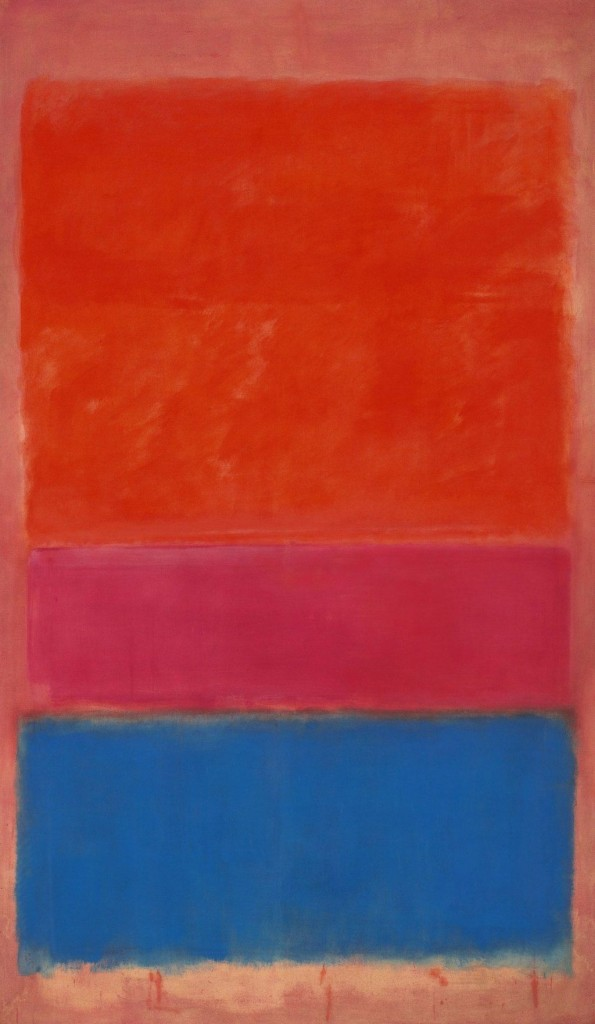 Mark Rothko, 1954, Royal Red and Blue